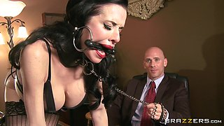 Sensual Red Lips Caught Masturbating By Her Boss