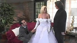 Nasty Bride Getting Double Dicked
