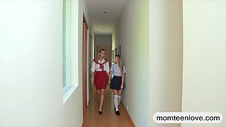 Mature piano teacher Tanya Tate fucking with teen Staci and BF