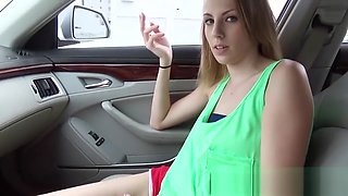 MOFOS - Jenna Marie gets fucked in the back seat of a parked car