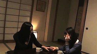 Amateur japanese schoolgirls get a blowjob