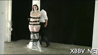 Woman gagged and stimulated