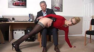 Office spanking