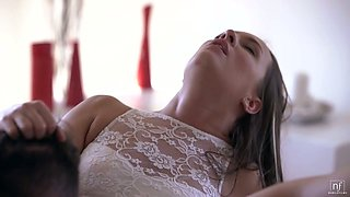 Beautiful girl Blue Angel is fucked by horny and romantic admirer