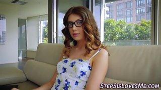stepteen in glasses fuck