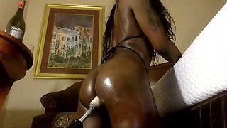 Black Busty Tranny Rammed By Her Sex Machine