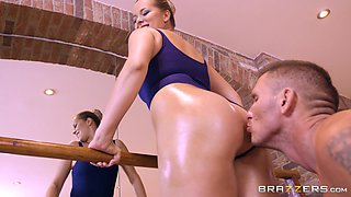 Nikky Dream bends over for a lucky lover's big cock