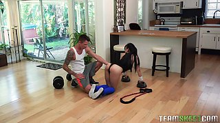 Jade Kush is an Asian lady who cannot resist a big cock