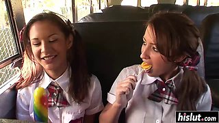 Hot schoolgirl craves for a dick