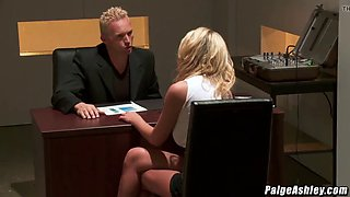 Paige ashley gets punished by marcus london for being bad