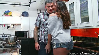 Busty sexpot Alison Tyler gets fucked by her best friend's boyfriend