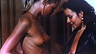 Filthy and hot European vintage brunette assfucked in threesome