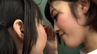 Wild Japanese schoolgirls play out their lesbian fantasy