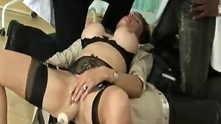 British milf using fuck machine