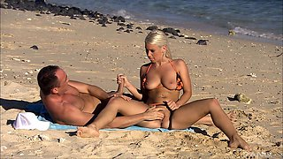 Blonde sweetie Katrin Wolf rides a cock like there's no tomorrow