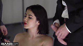Glamkore - Lady Dee gets a double cumload facial