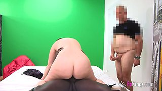 cuckold watches his plump chick getting blacked