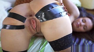 Hot czech cutie spreads her slim snatch to the extreme