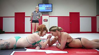 Horny wrestling with wild pussy drilled is included today for Ariel X