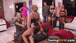 hot swingers helping each other