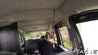 hotties pussy is nailed in fake taxi film