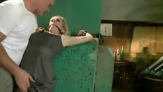 Cute slave bound and fucked 1