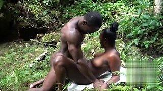 African Girl Fucking Garden