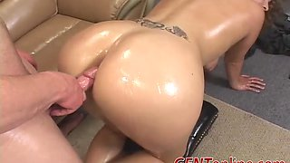 Ryen Ryder has a big round ass and she rides a cock hard with it