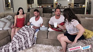 Pajama party gets turned into a really wild swinger sex with Alex Coal