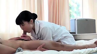 Asian nurses checking up how their patients' cocks work