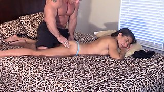 Brother massages then creams my pussy (creampie)