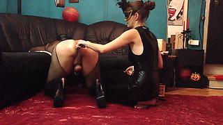 My Mistress Wife Fuck Sissy Slave Hole Deep Hard With Dildo