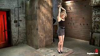 Southern Belle In Her First Hardcore Bondage Experienceabused, Made To Cum, And Wrist Suspended. - HogTied
