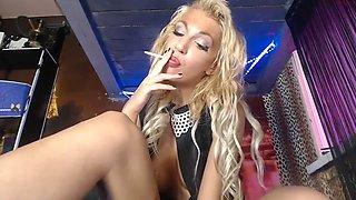 Russian blonde bimbo anal slut does it all DP SMOKING ATM DEEPTHROAT unreal
