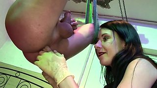 Mistress prostate play with huge cumshot