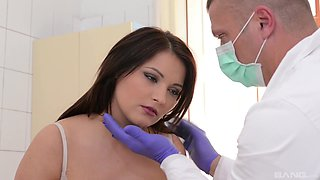Naughty doctor likes it rough with his pure hotness Lana Ivans