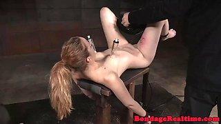Humiliated bdsm slave getting punished