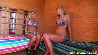 busty blonde milfs leave you speechless with a lesbian scene