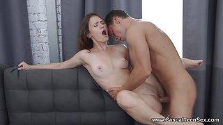 Kinky Teen seduces her college tutor