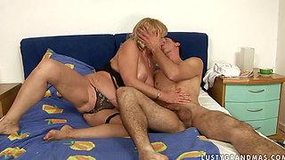 mature hairy Sally G & Rob seduced