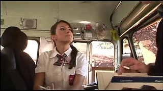 high school angel receives drilled in a bus