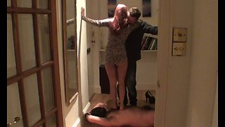 Homemade cuckold video with my wife dancing for a stranger