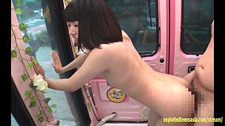 Jav Idol Hikaru Chan Fucked In Mirror Bus On The Streets Of Tokyo Cute Teen Has No Shame