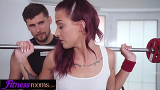Fitness rooms big cock personal trainer fucks sexy redhead