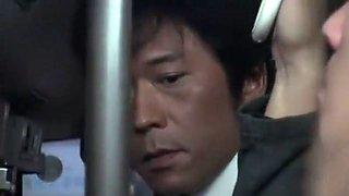 Exotic Japanese model in Horny Bus, Public JAV video