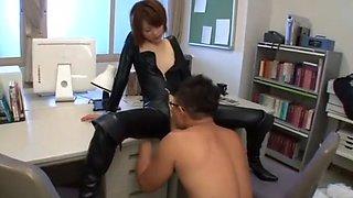 Hottest Japanese slut Mio Oichi in Crazy Small Tits, Latex JAV scene
