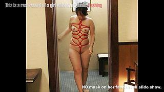 Japanese chubby girl public flashing slide show