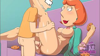 Family guy&#39s lois griffin bangs american dad&#39s steve smith