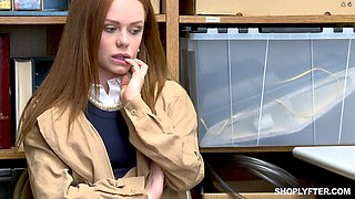 Ella Hughes gets her wet cunt punished by a security guard