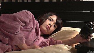 Two robbers fuck face and big boobs of sexy slut Koyomi Yukihira